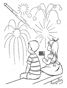 Fourth of July Fireworks Coloring Pages