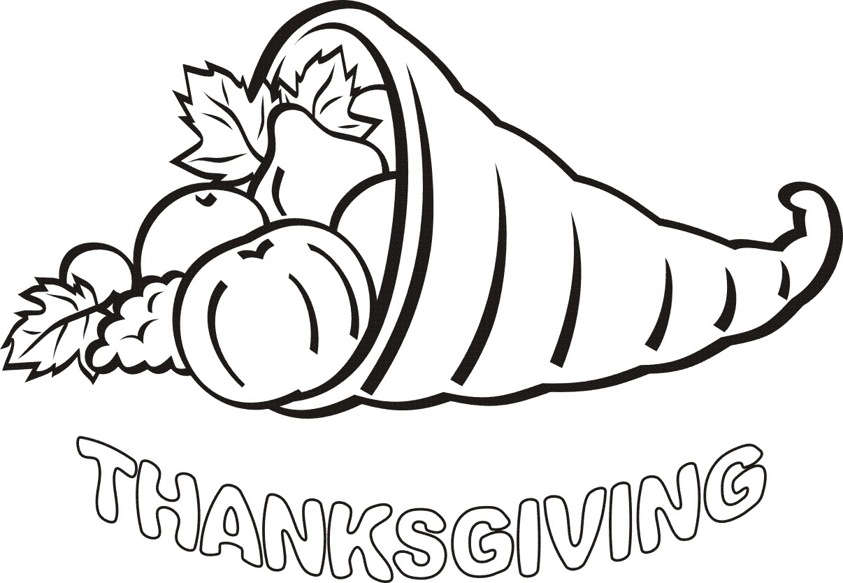 printable coloring pages for thanksgiving - photo#25