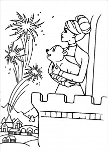 Free Fireworks Coloring Sheets