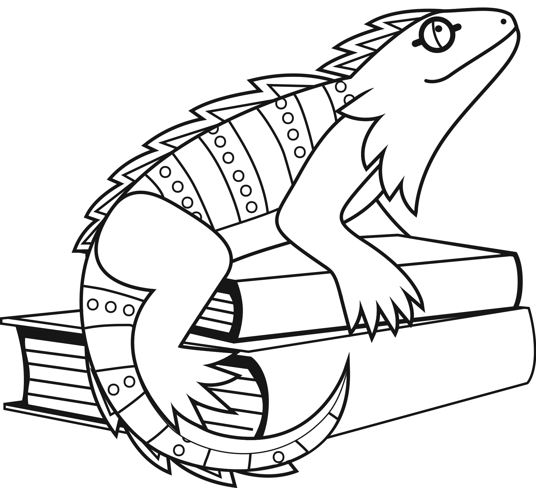 Iguana Coloring Pages Printable Coloring Pages