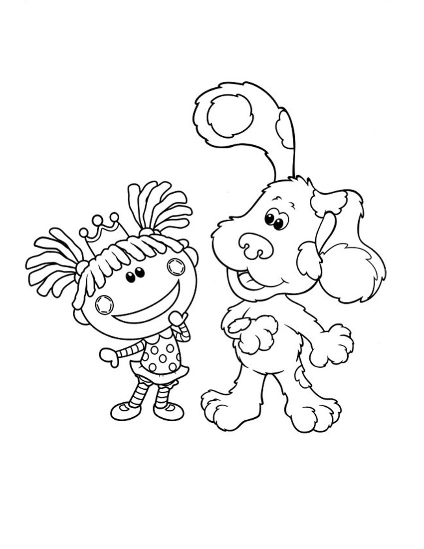 free blues clue coloring pages - photo#23