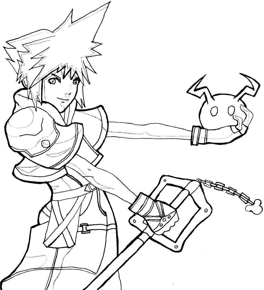 Printable Kingdom Hearts Coloring Pages Coloring Me