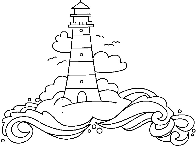 coloring pages lighthouse - photo#8