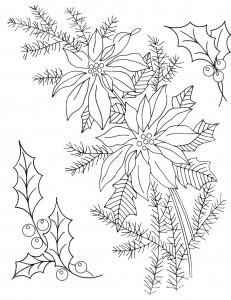 Free Printable Poinsettia Coloring Pages
