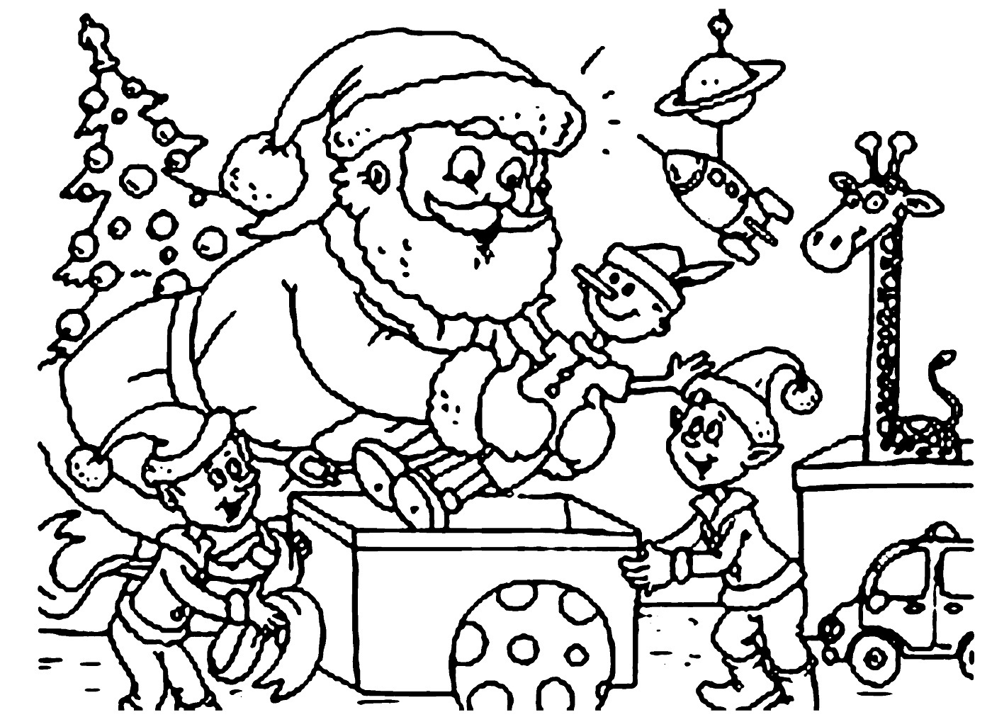 Santa Colouring Pages