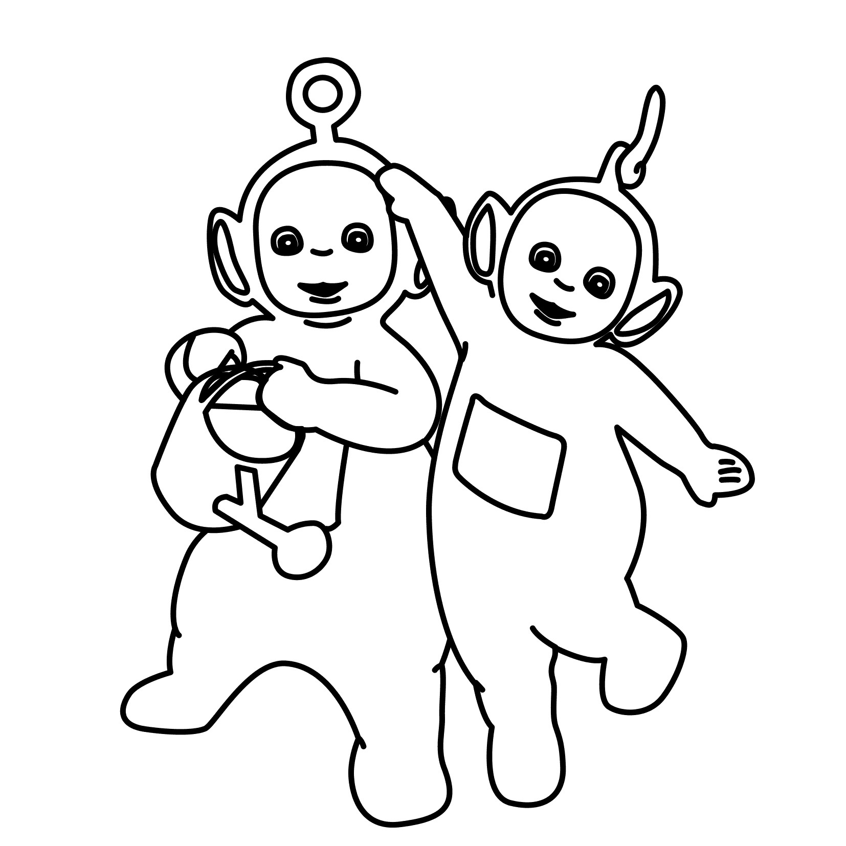 Printable Teletubbies Coloring Pages | Coloring Me