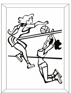 Free Printable Volleyball Coloring Pages
