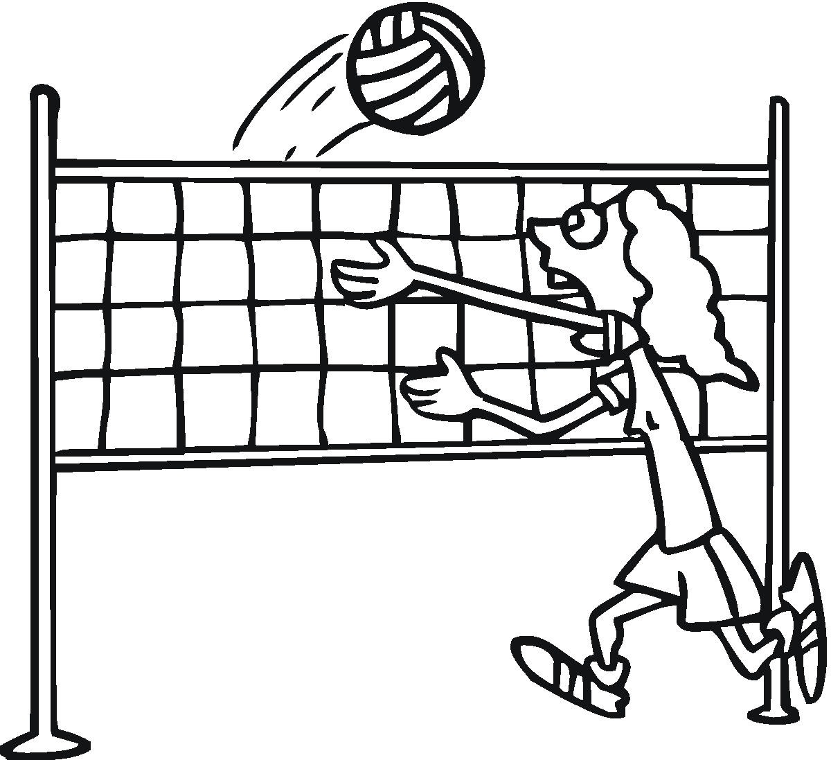Free Volleyball Coloring Sheets