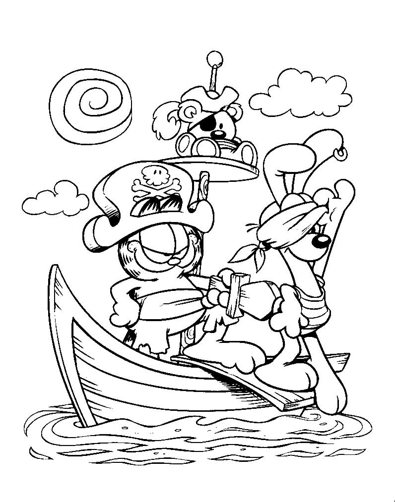garfield comics coloring pages - photo#23