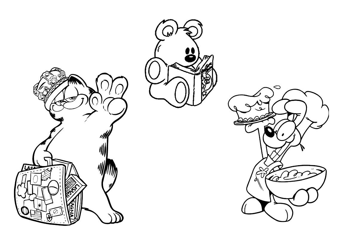 Garfield and friends free coloring pages for Garfield coloring page