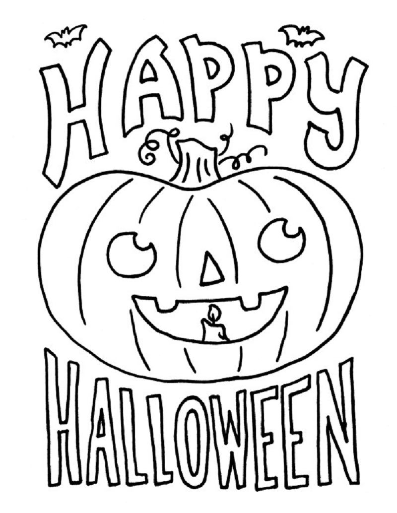 Awesome Free Halloween Coloring Pages For Kids Printable Pictures