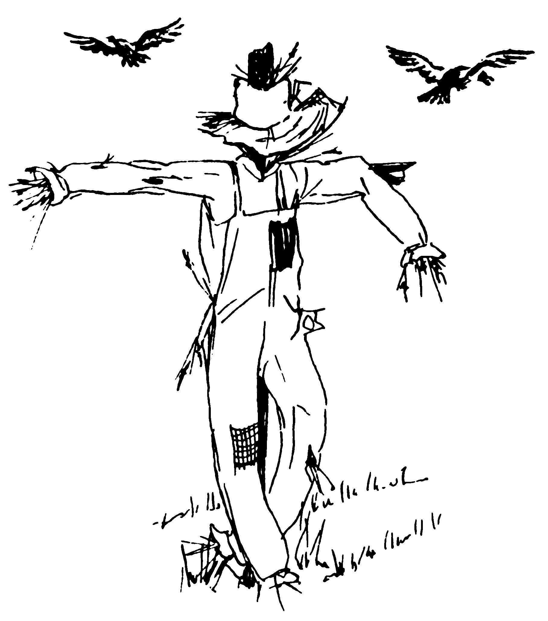 halloween scarecrow coloring sheets