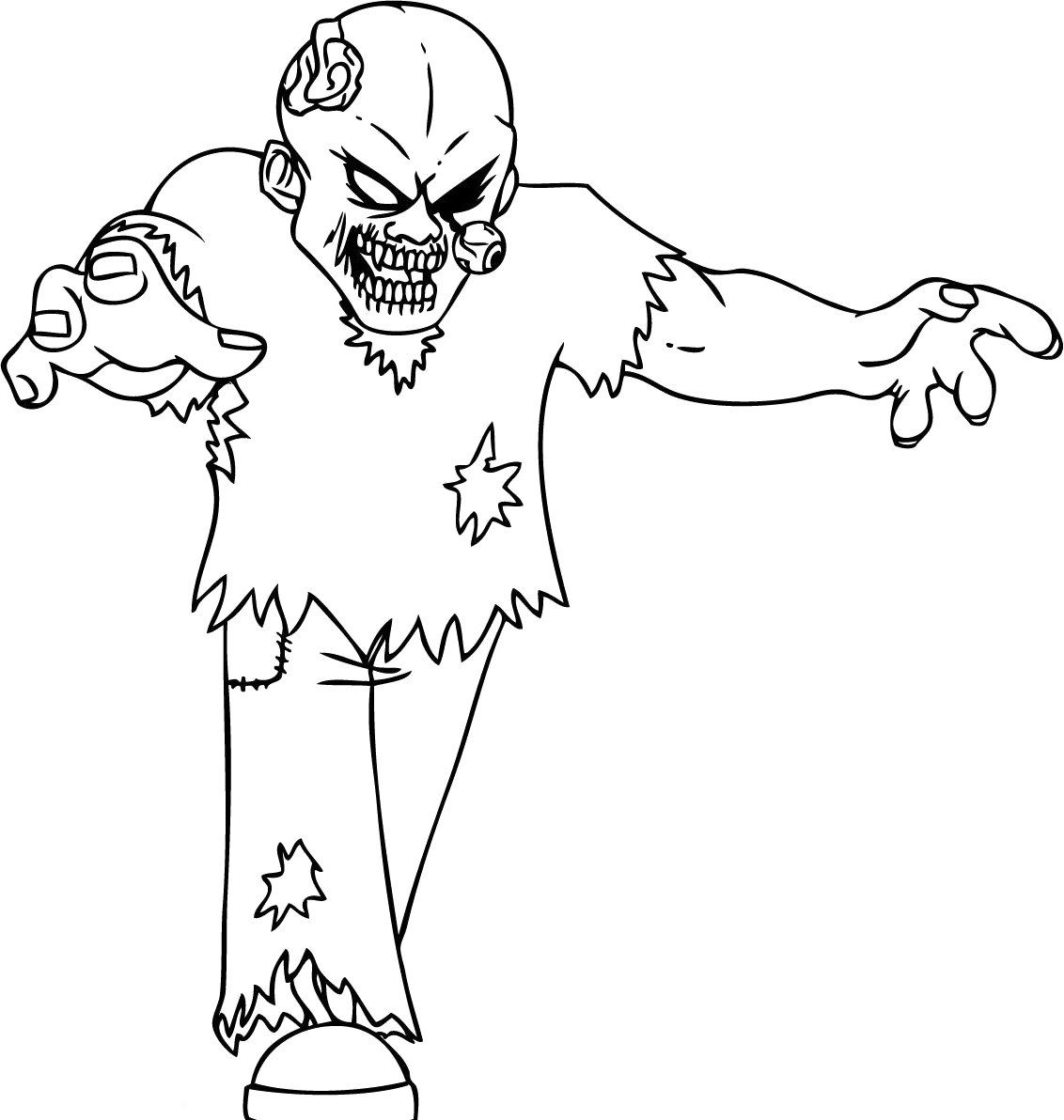 halloween black coloring pages - photo#4