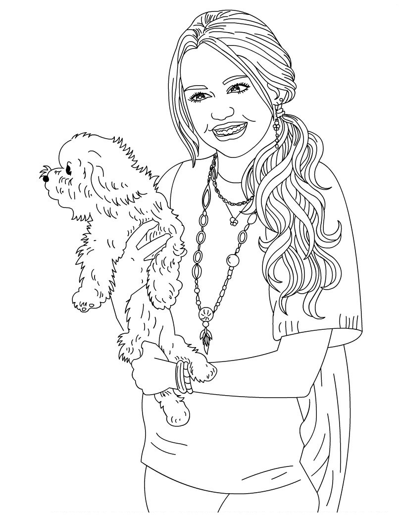 Miley Cyrus Hannah Montana Pages Coloring Pages