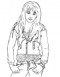 Hannah Montana Printable Coloring Pages