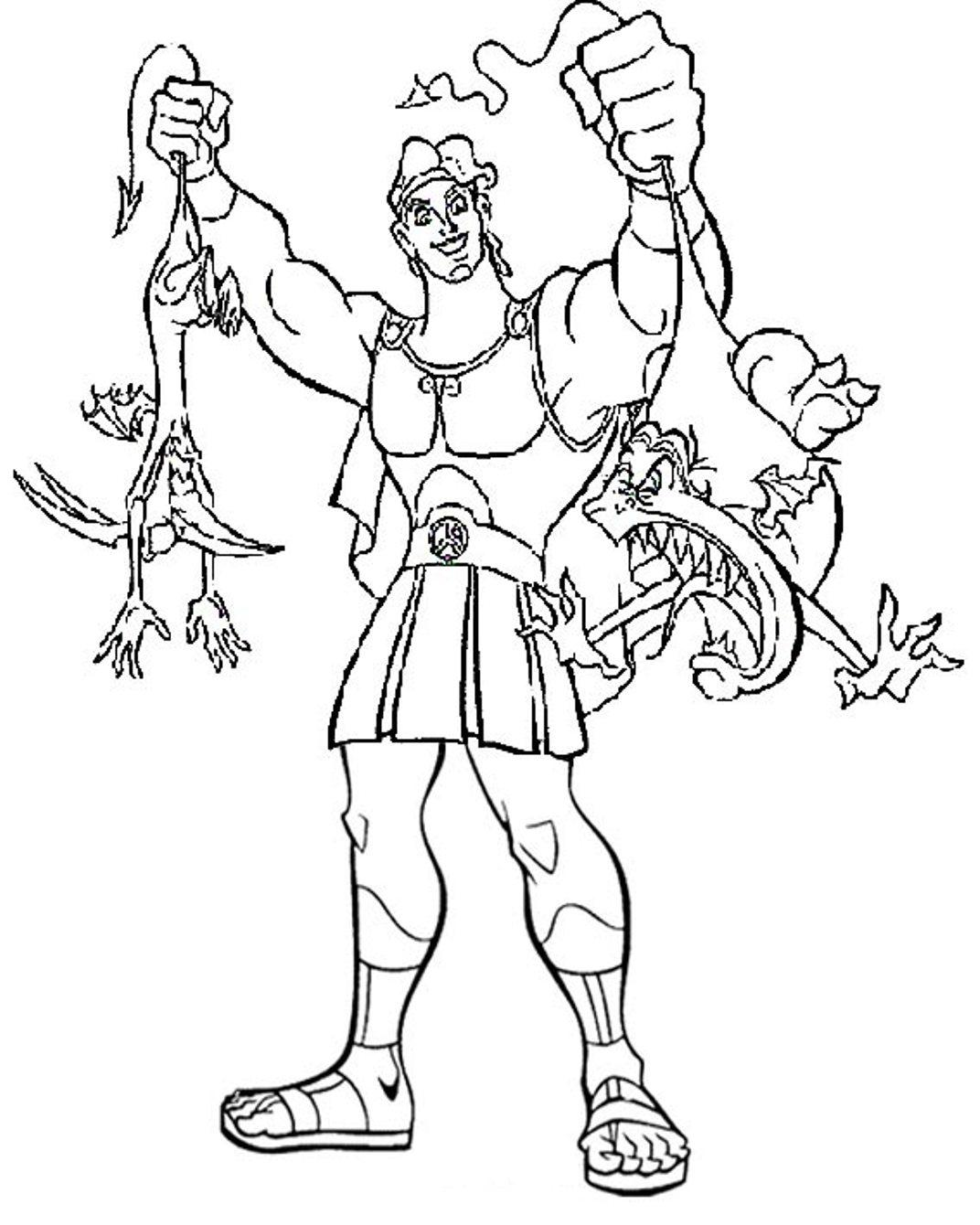 Printable Hercules Coloring Pages