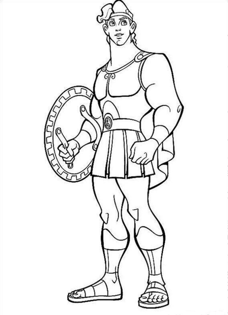 Pain And Panic Disney Hercules Coloring Pages Coloring Pages