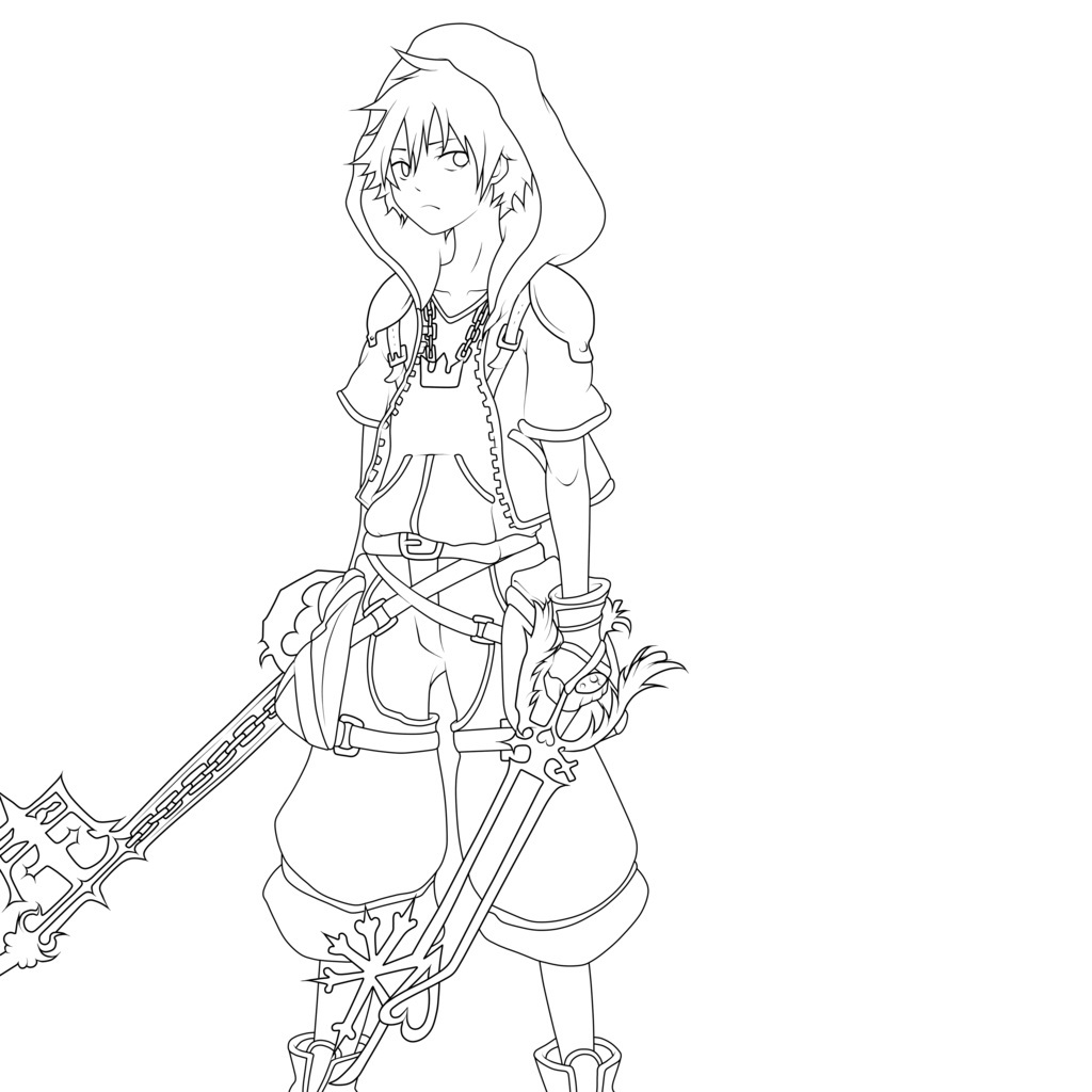 Printable Kingdom Hearts Coloring Pages Coloring Me Kingdom Hearts Coloring Page