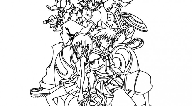 kingdom hearts coloring page 28 images free printable kingdom