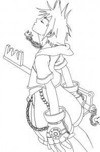 Kingdom Hearts Coloring Pages Sora