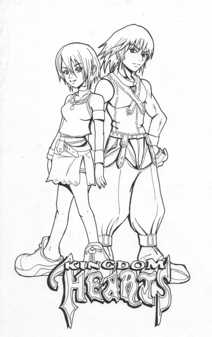 Kingdom Hearts Printable Coloring Pages