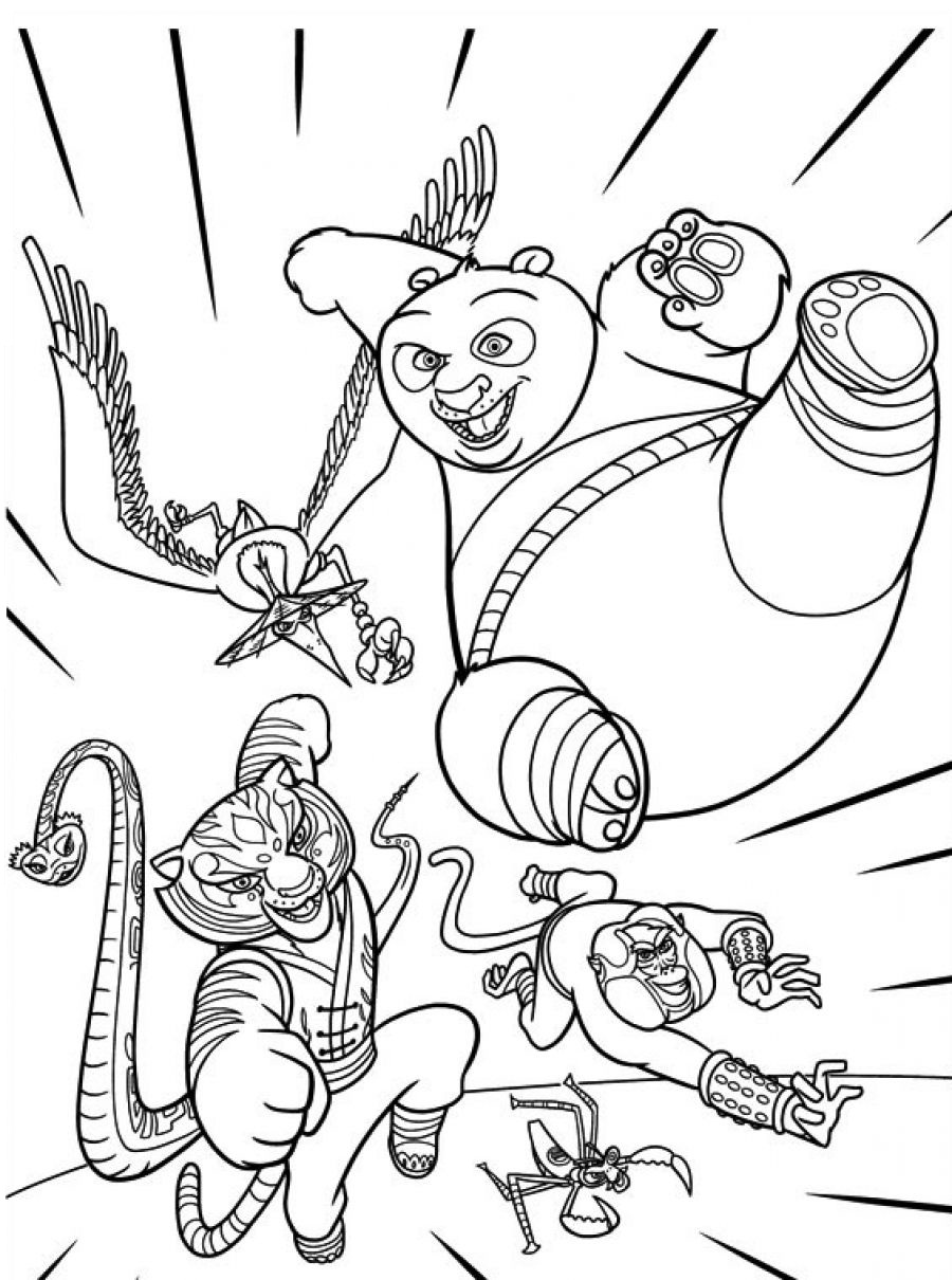 Kung Fu Panda Tigress Coloring Pages
