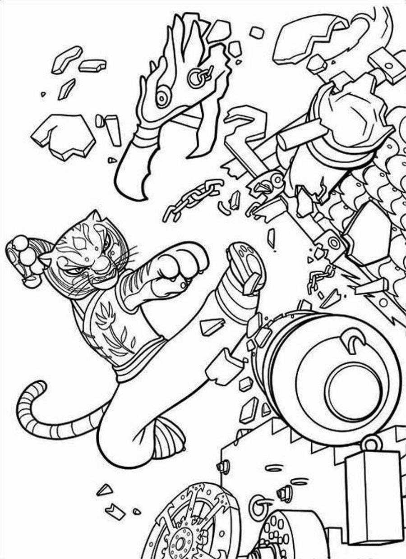 Kung Fu Panda Coloring Sheets Print