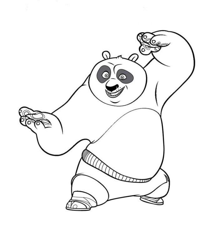 Kung Fu Panda Coloring Pages | 751x688
