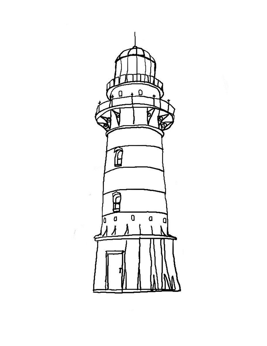 Printable Lighthouse Coloring Pages  Coloring Me