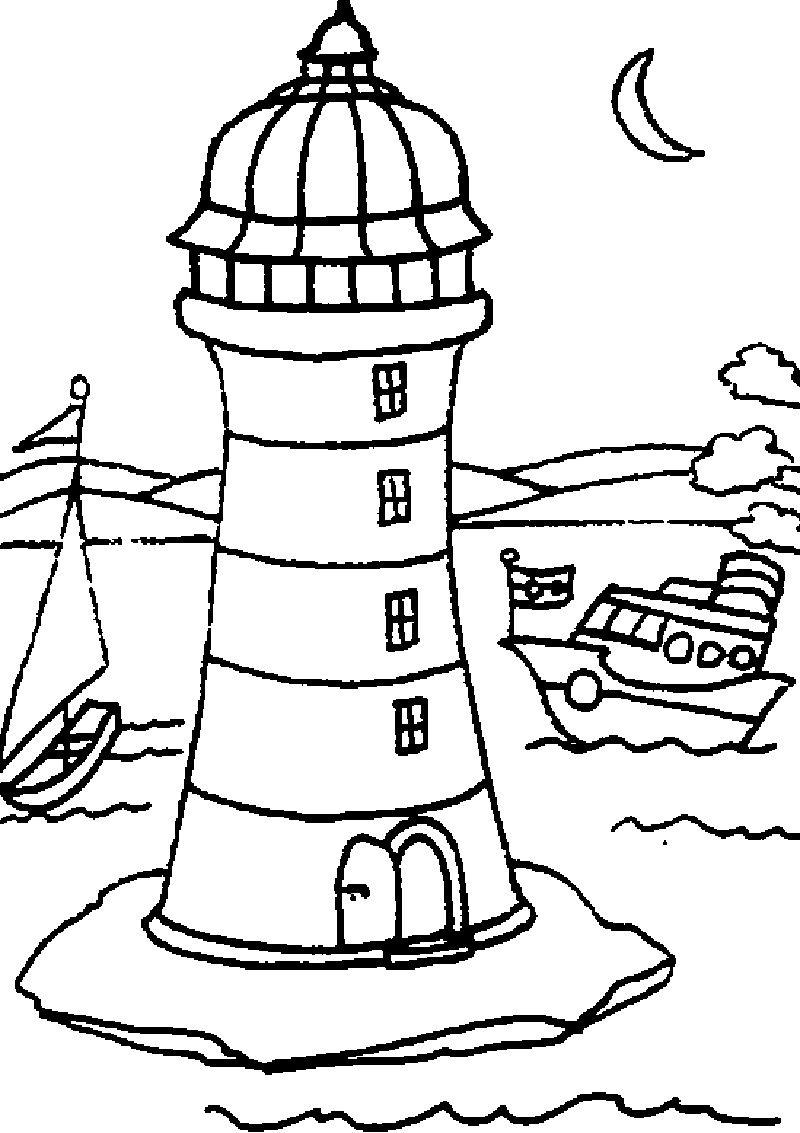Free Coloring Pages Of Maine Lighthouses Lighthouse Coloring Pages