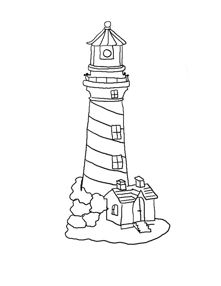 coloring pages lighthouse - photo#9
