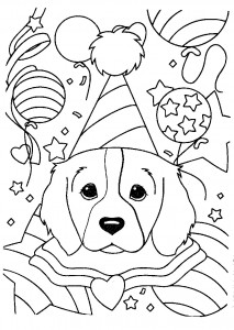 Lisa Frank Dog Coloring Pages