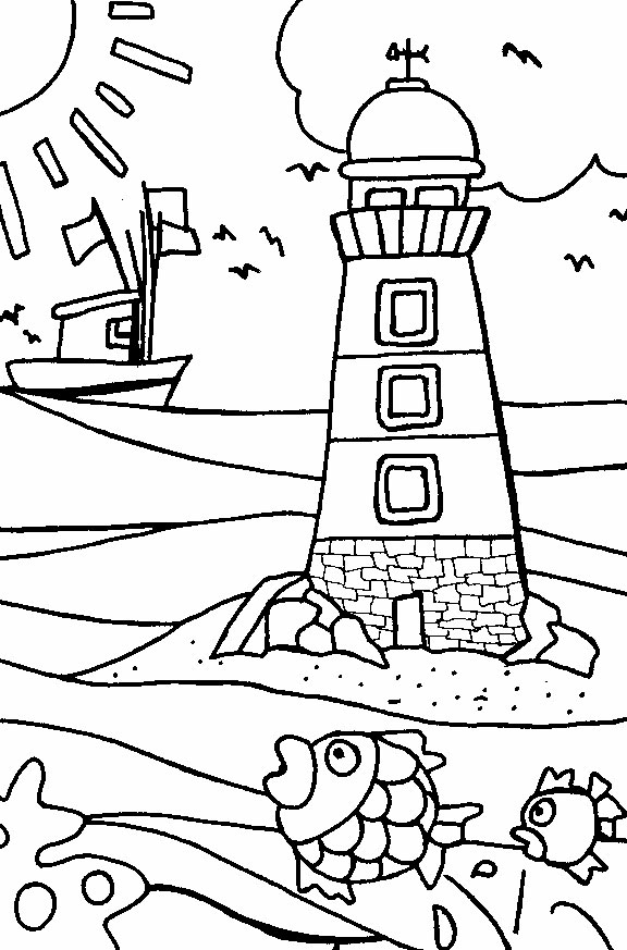 coloring pages lighthouse - photo#33
