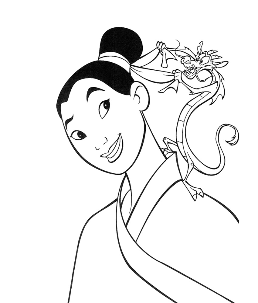 disney coloring pages mulan - photo #15