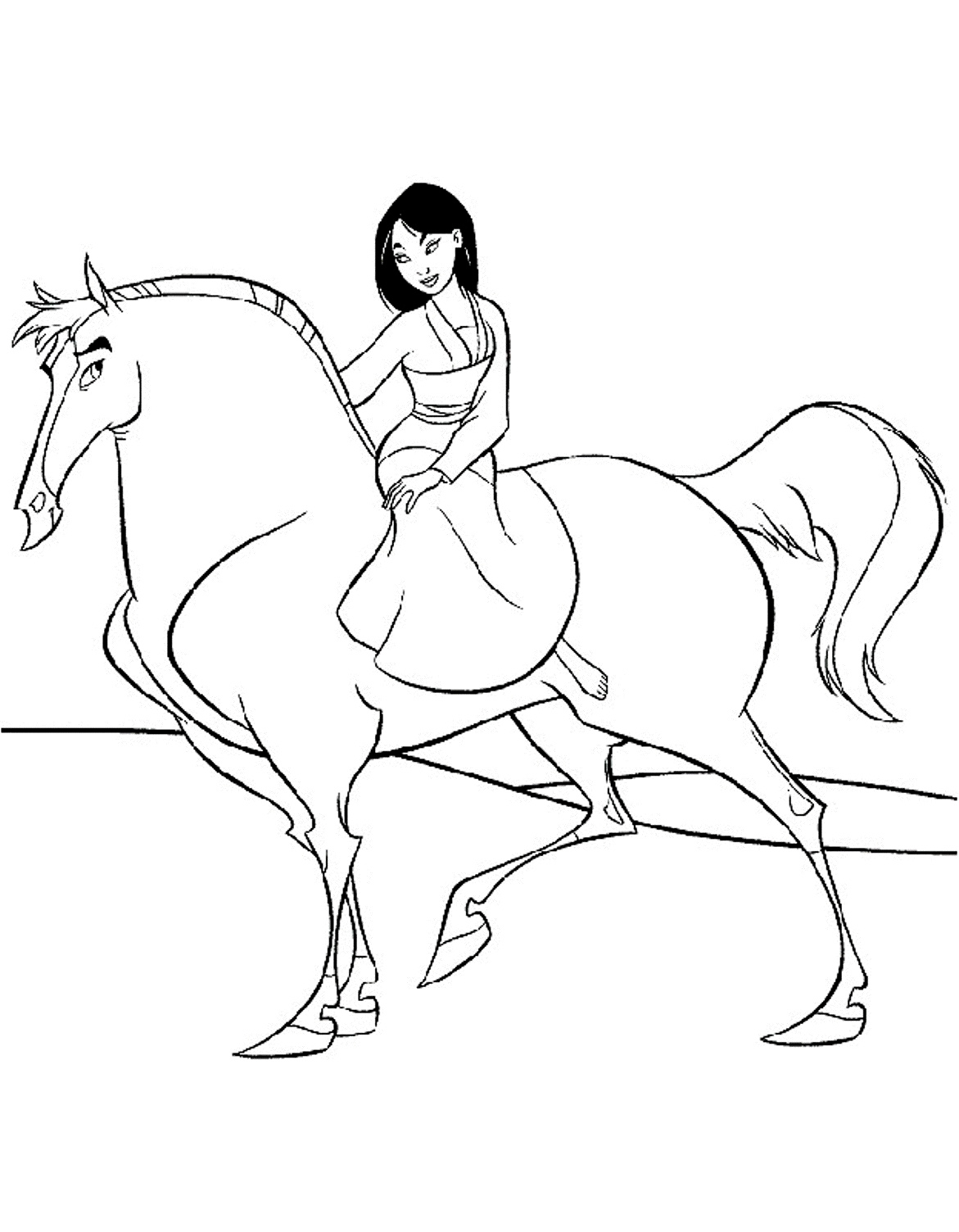Baby Disney Princess Mulan Coloring Pages - Worksheet & Coloring Pages