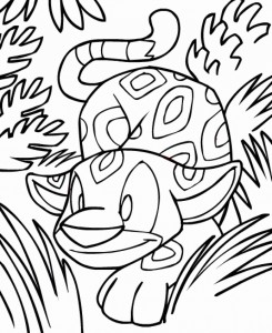 Neopet Coloring Pages