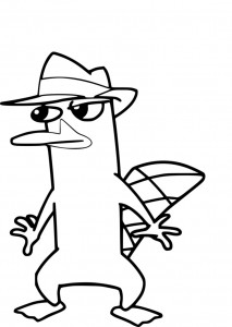 Perry the Platypus Coloring Pages