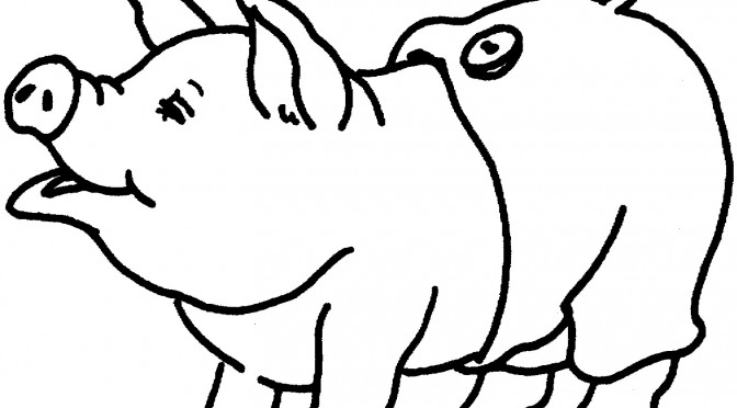 minecraft baby pig coloring pages | Cute Minecraft Pigs Coloring Coloring Pages