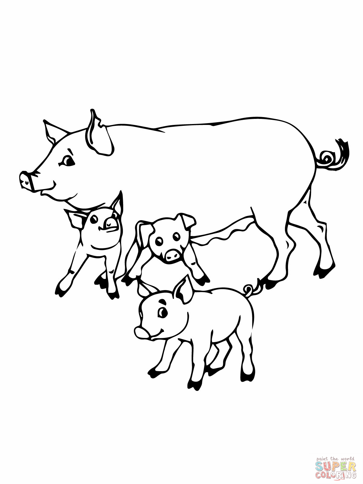 Baby Pig Cartoon Coloring Pages Galleryhipcom The