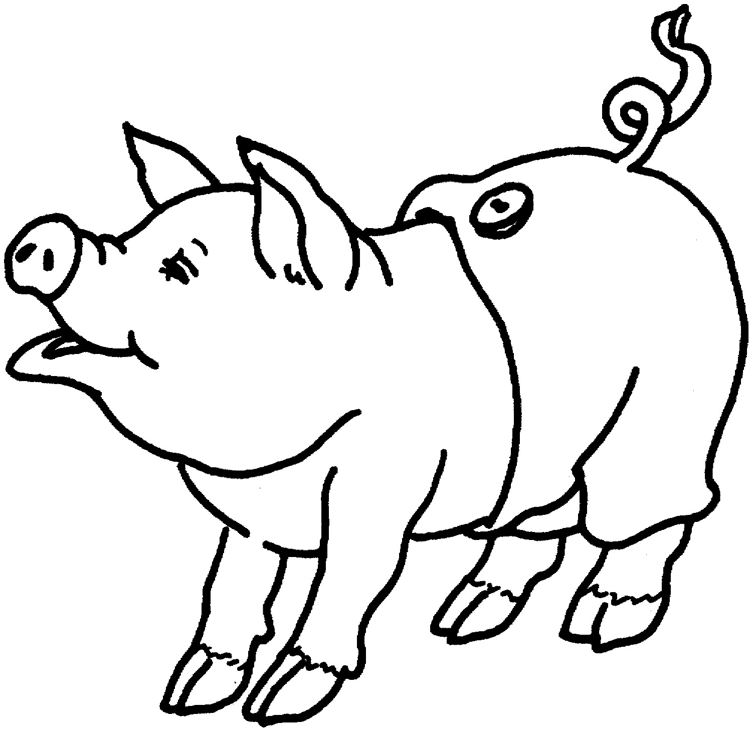 Printable Pig Coloring Pages Coloring Me Piggy Coloring Pages