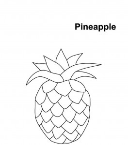 Pineapple Coloring Page to Print