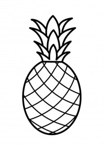 Pineapple Coloring Pages Free
