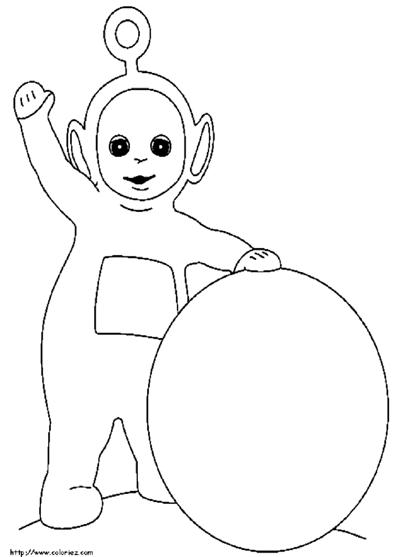 po teletubbies coloring pages - Teletubbies Dipsy Coloring Pages