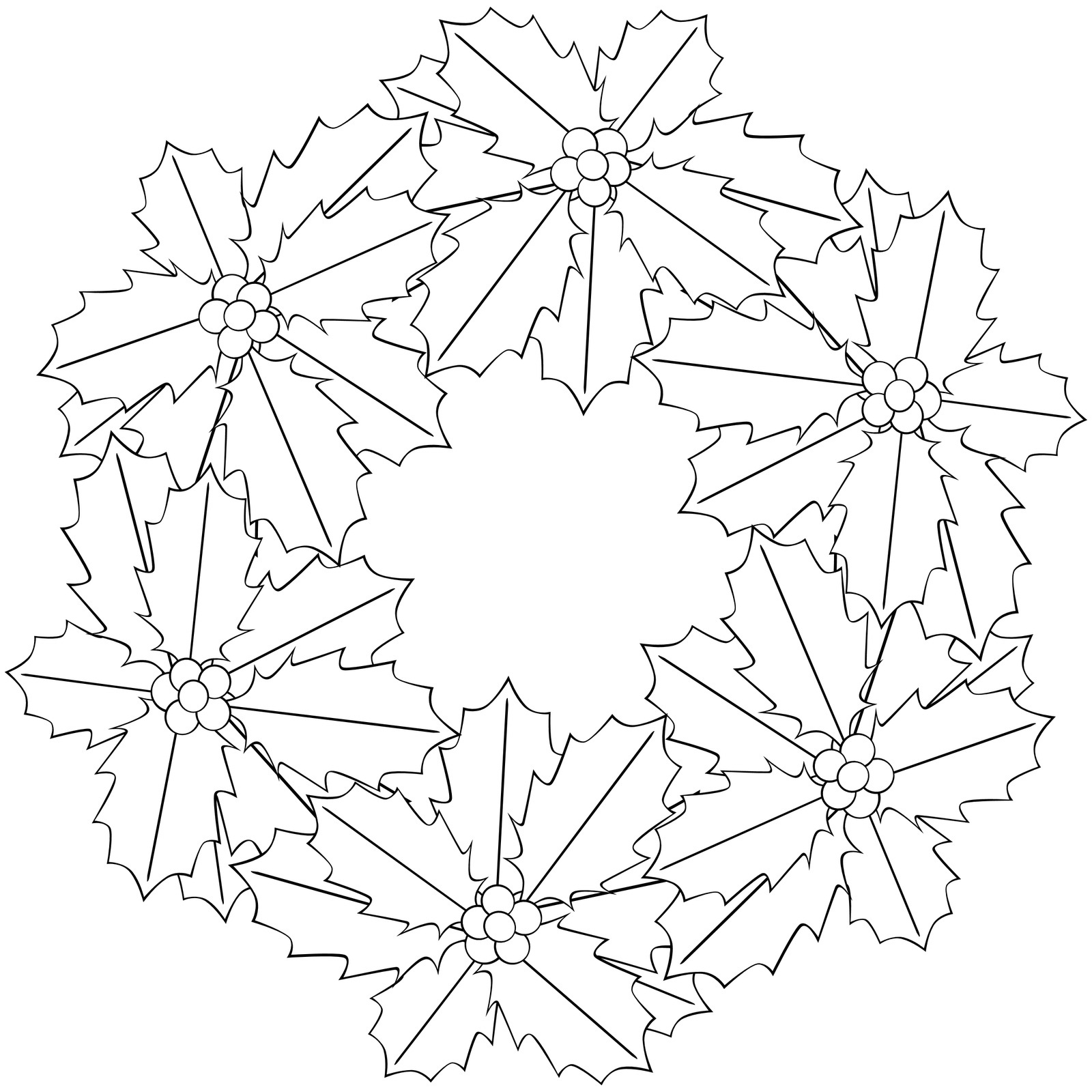 Printable Poinsettia Coloring Pages