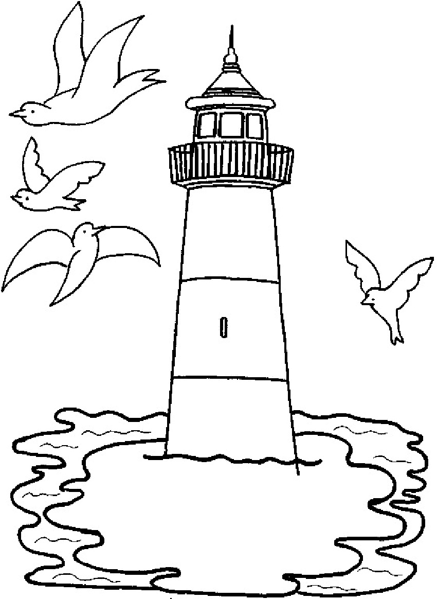 coloring pages lighthouse - photo#10
