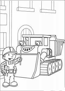 Printable Bob the Builder Coloring Page