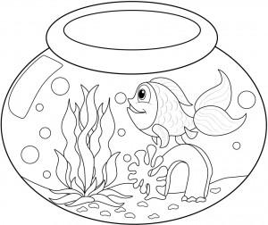 Printable Goldfish Coloring Page