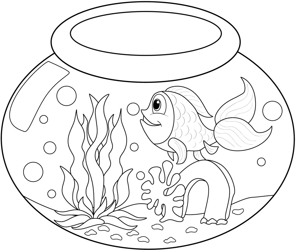 free printable goldfish coloring pages - photo#26