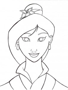 Printable Mulan Coloring Pages