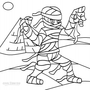 Printable Mummy Coloring Pages